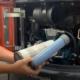 Luchtfilter controleren atlas minigraver graafmachine